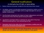 general modifications a child who has cp md or spina bifida
