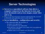 server technologies1