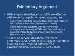 evidentiary argument16