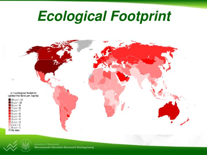 ess ecological footprint comparison Ecological footprint analysis compares human demand on nature with the biosphere's ability to regenerate resources and provide services ecological footprints may be used to argue that many current lifestyles are not sustainable such a global comparison also clearly shows the inequalities of.