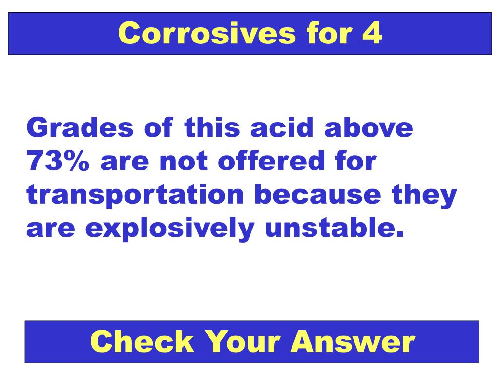 Corrosives for 4