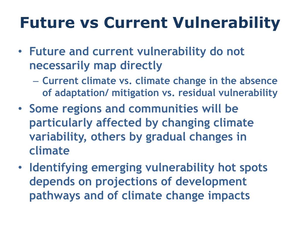 Future vs Current Vulnerability