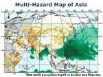 multi hazard map of asia
