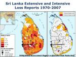 sri lanka extensive and intensive loss reports 1970 2007