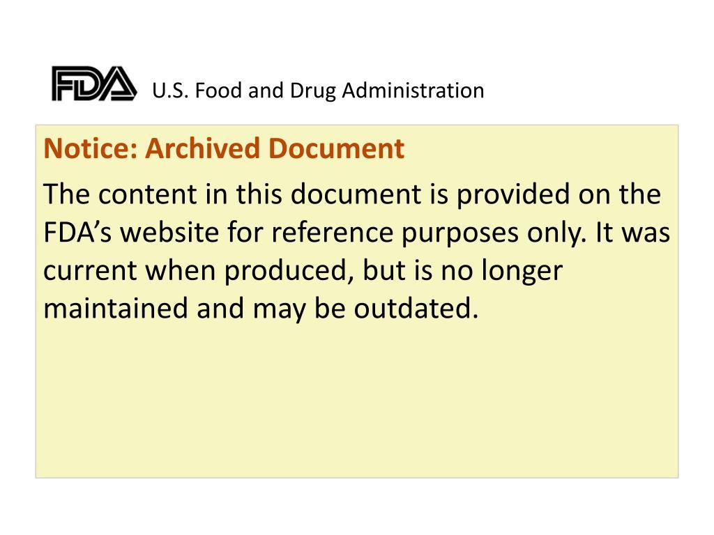 u s food and drug administration l.
