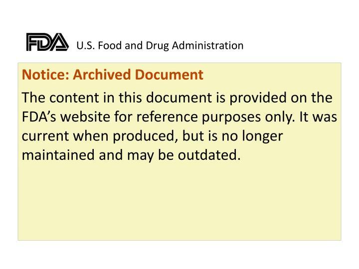 U s food and drug administration