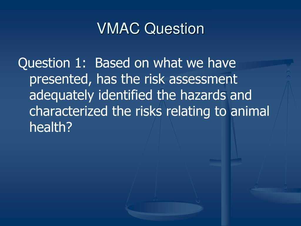 VMAC Question