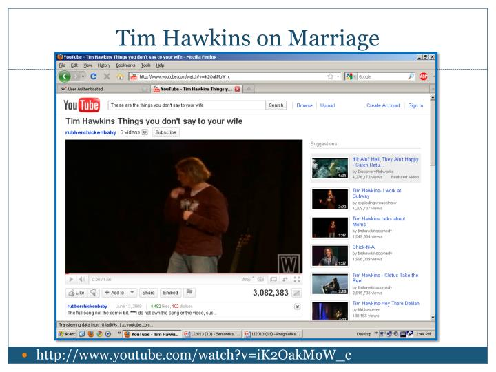 Tim Hawkins on Marriage