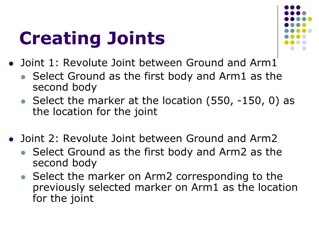 Creating Joints