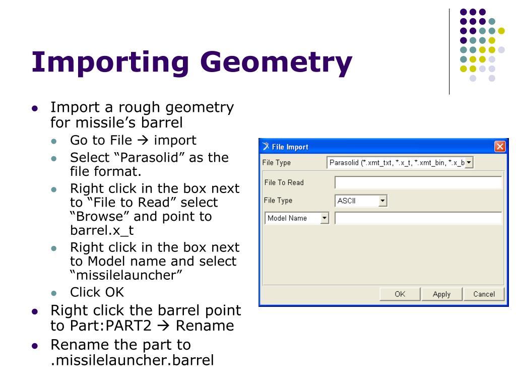Importing Geometry