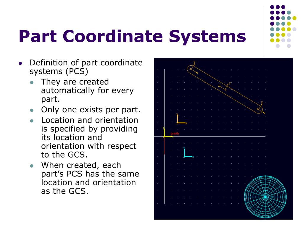 Part Coordinate Systems