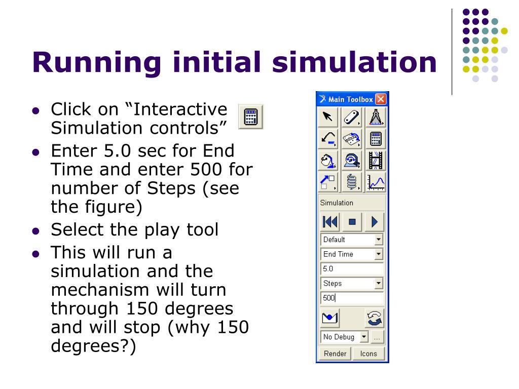 Running initial simulation