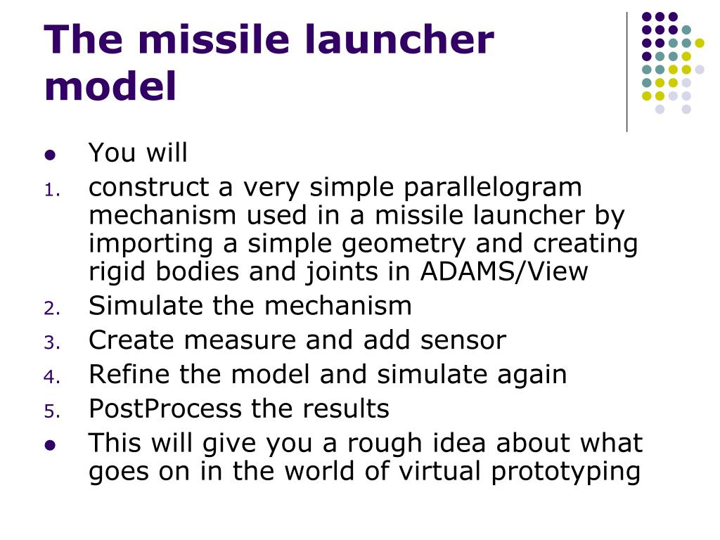 The missile launcher model