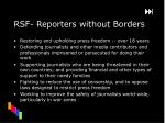 rsf reporters without borders