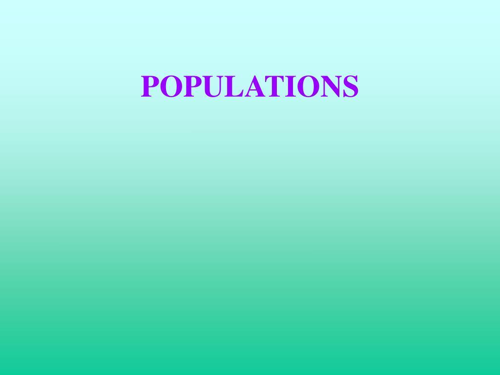 populations l.