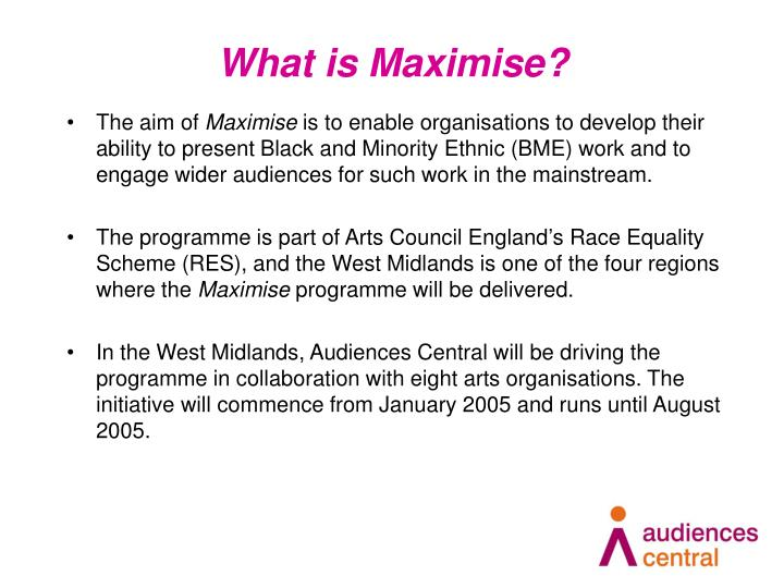 What is Maximise?