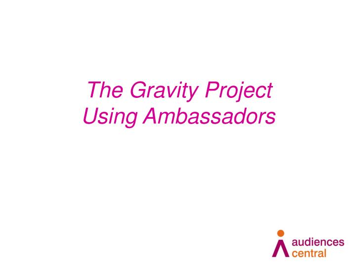The Gravity Project