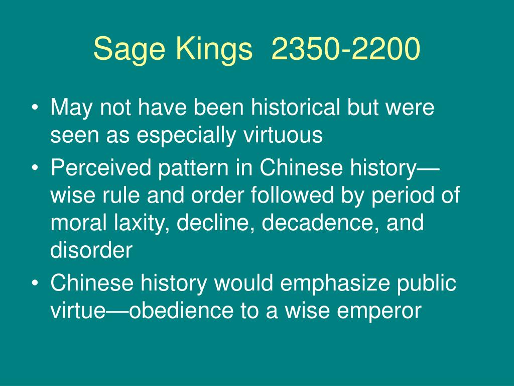 Sage Kings  2350-2200
