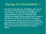 sayings from the analects 1