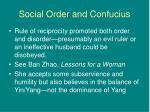 social order and confucius