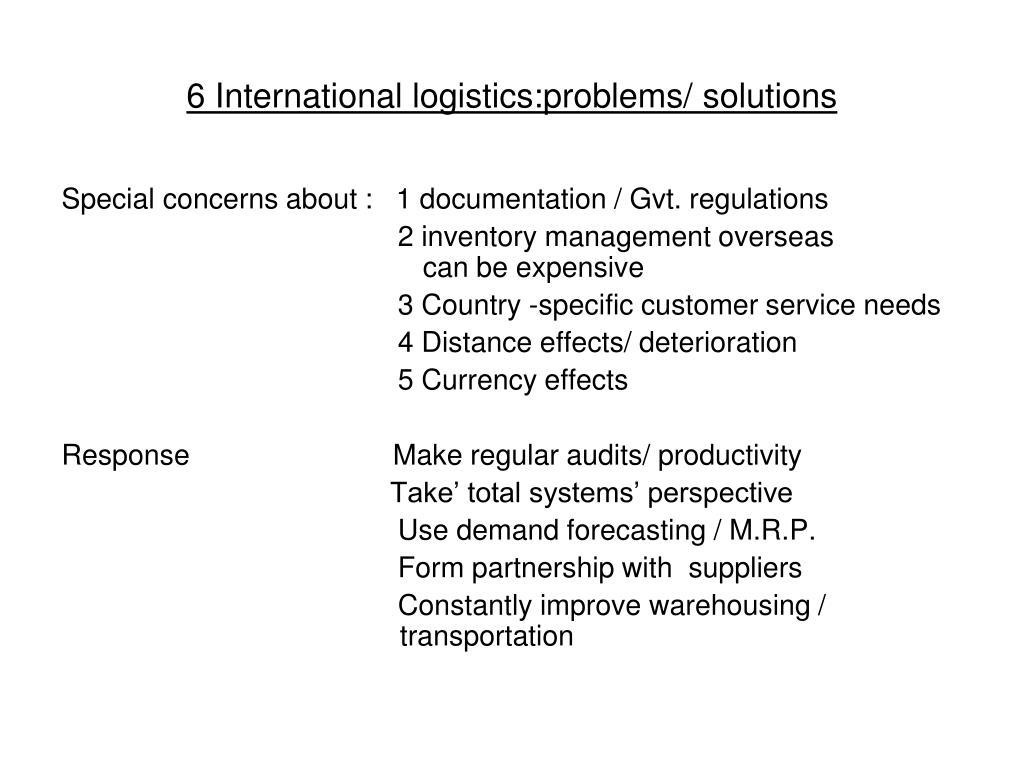PPT - L3 International Logistics PowerPoint Presentation - ID:1449985