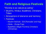 faith and religious festivals