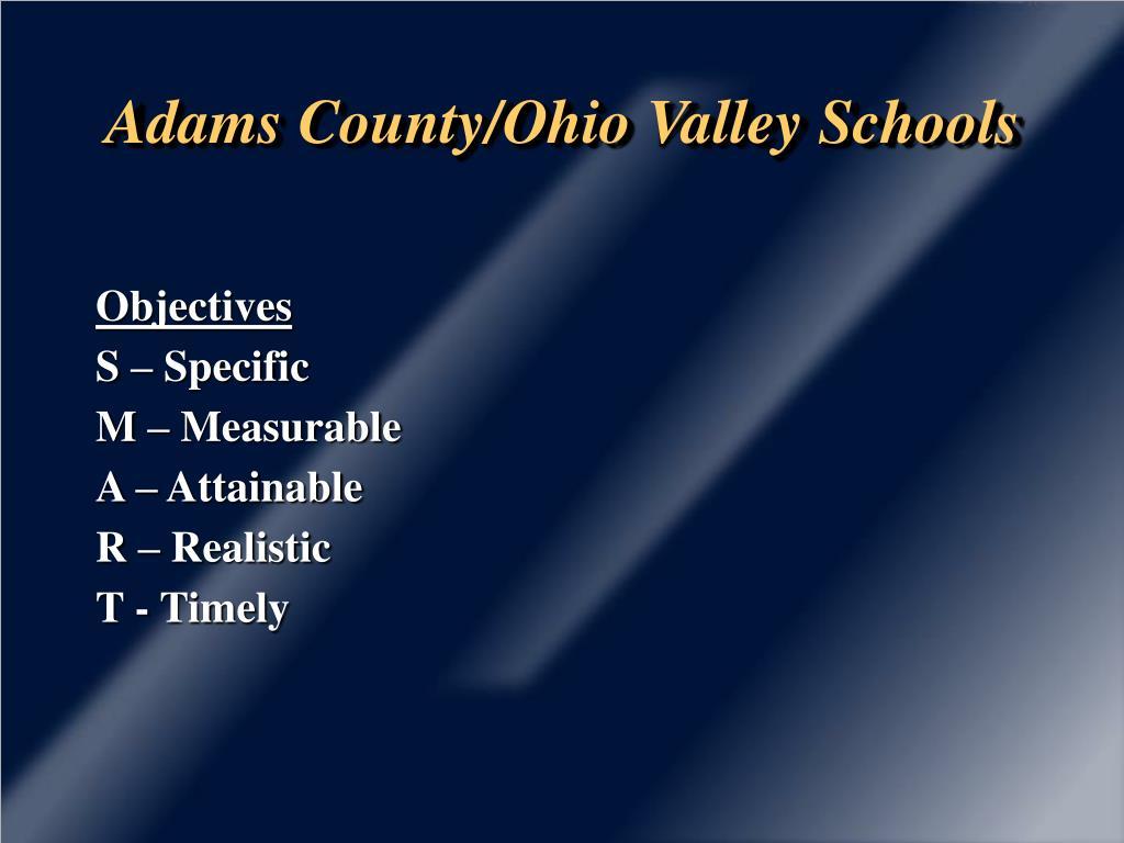 adams county ohio valley schools l.