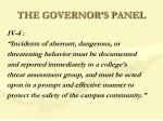 the governor s panel