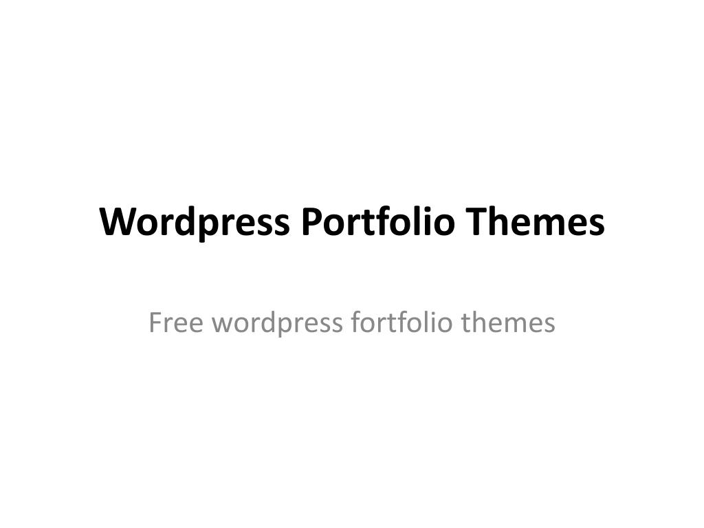 wordpress portfolio themes l.