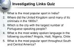 investigating links quiz