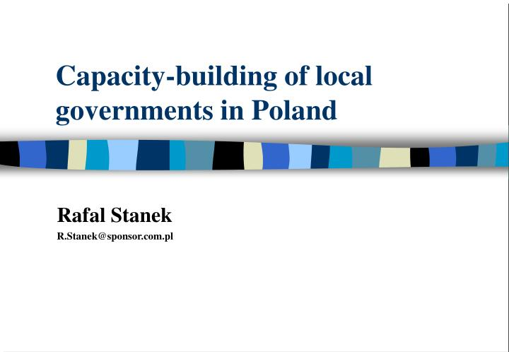 capacity building of local governments in poland n.