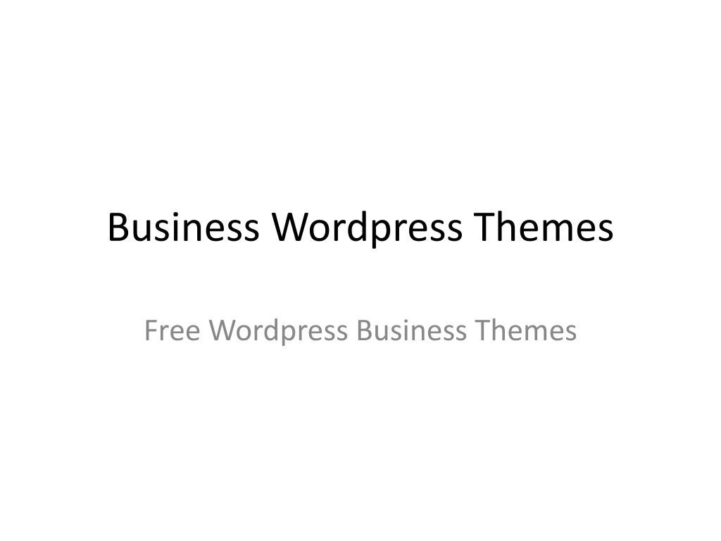 business wordpress themes l.
