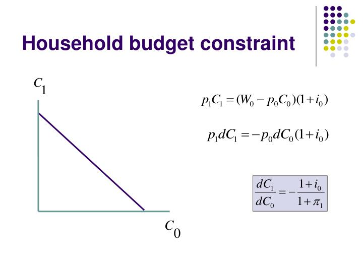 Household budget constraint