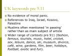 uk keywords pre 9 11