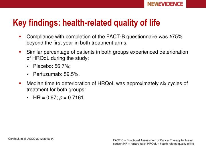 Key findings: health-related quality of life