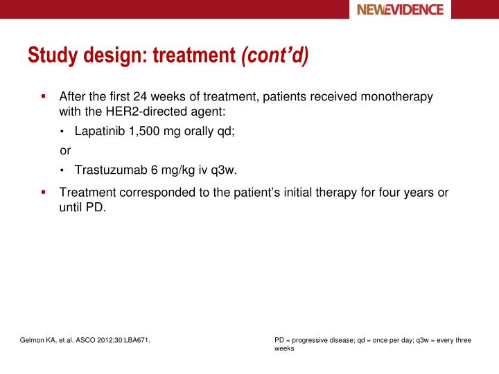 Study design: treatment