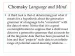 chomsky language and mind