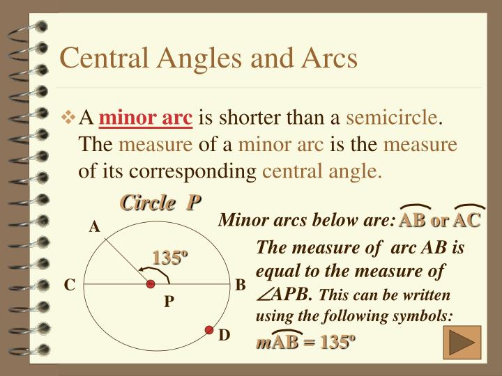 Ppt Circles Central Angles Arc Measure Powerpoint Presentation