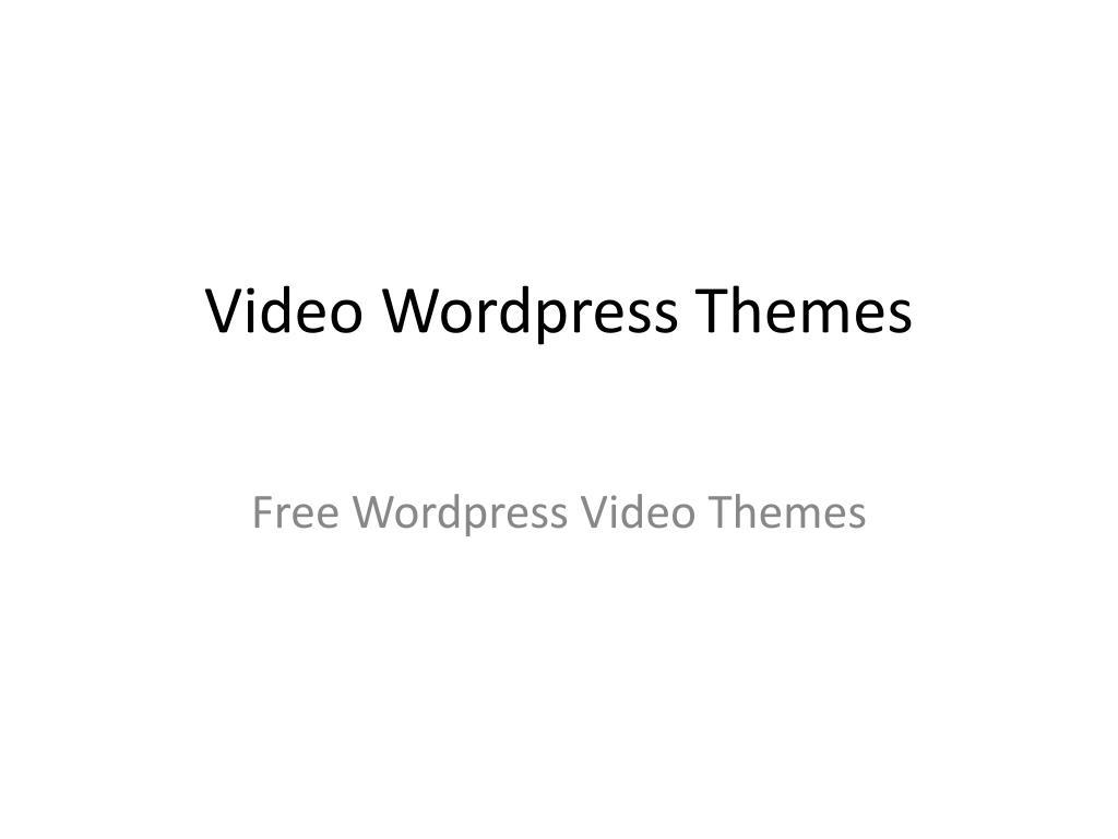 video wordpress themes l.