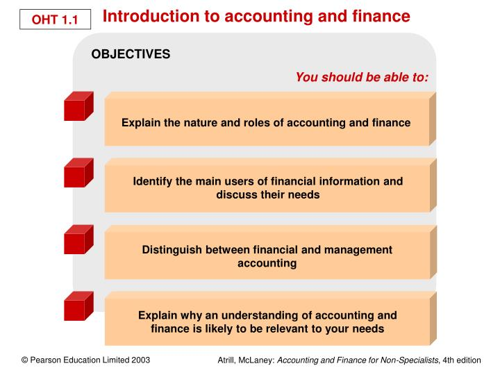 objectives of an accounting and finance manager Management accounting is the process of analysis, interpretation and presentation of accounting information collected with the help of financial accounting and cost accounting, in order to assist management in the process of decision making, creation of policy and day to day operation of an organization.