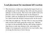 load placement for maximum left reaction4