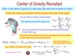 center of gravity revisited