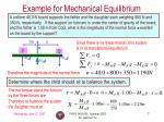 example for mechanical equilibrium