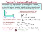 example for mechanical equilibrium1