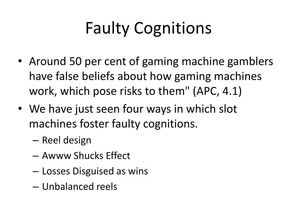 Faulty Cognitions