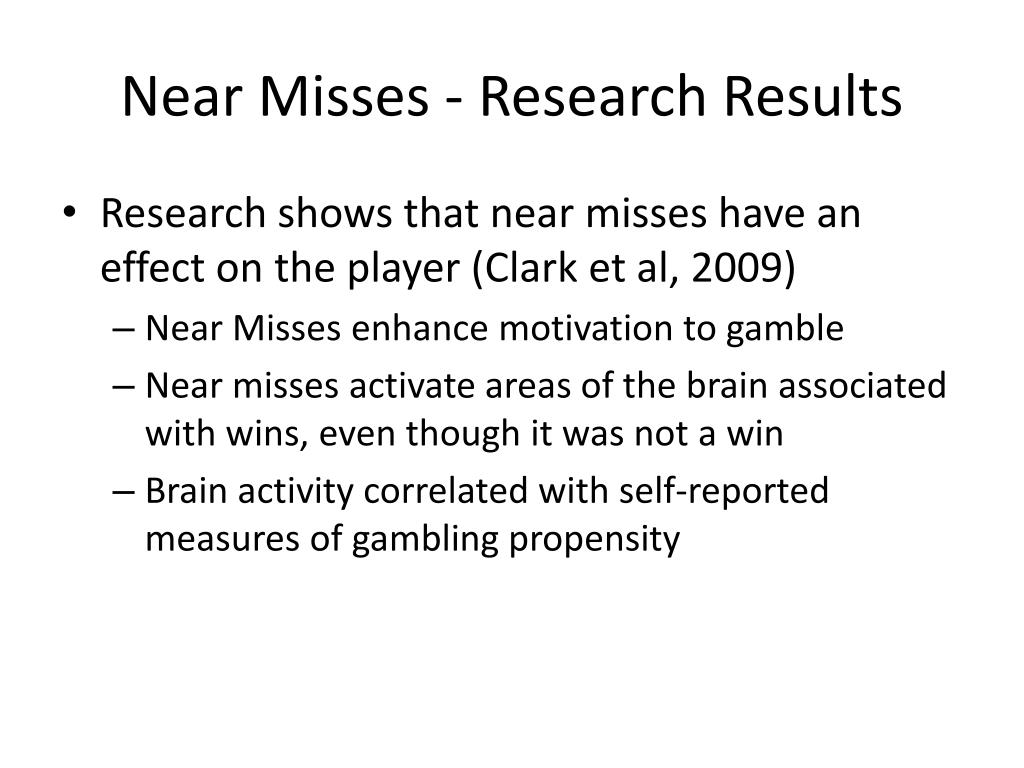 Near Misses - Research Results