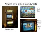 newer style video slots vlts