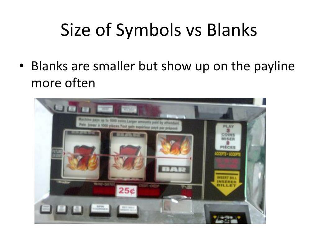 Size of Symbols vs Blanks