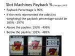 slot machines payback harrigan 2007