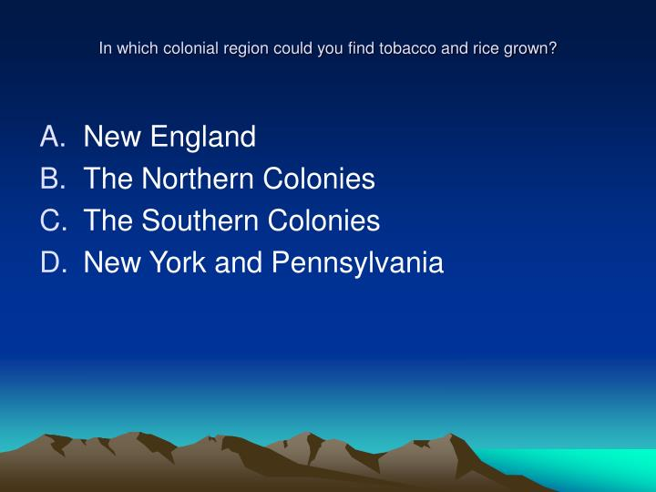 how the southern and new england colonies were so different from each other essay The new england colonies, however, were a theocracy, which meant the southern colonies were almost entirely agricultural its staple crops consisted of rice, tobacco, and indigo socially, most of the colonists were from england, but the class systems were very different in all three colonies.